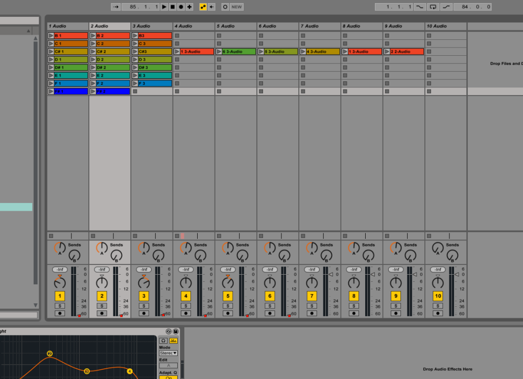 Screen shot - Ableton Live
